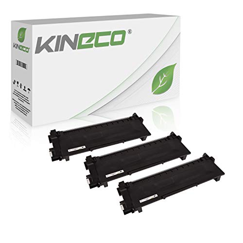 Kineco 3 Toner kompatibel für Brother TN-2320 TN2320 TN-2310 für Brother HL-L2340DW, HL-L2360DN MFC-L2700DW, DCP-L2520DW, HL-L2300D, DCP-L2500D - Schwarz je 2.600 Seiten