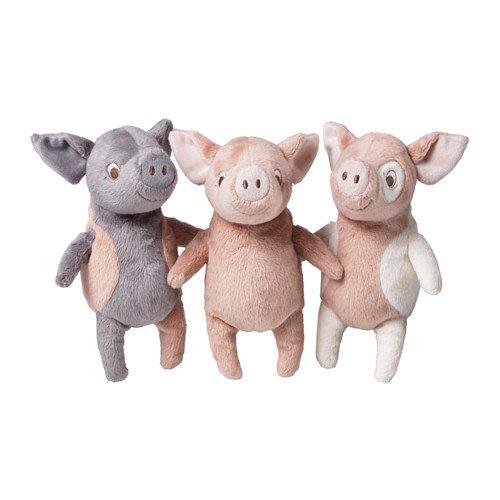 Ikea Kelgris 3 Little Pigs Soft Plush Toy Bundle