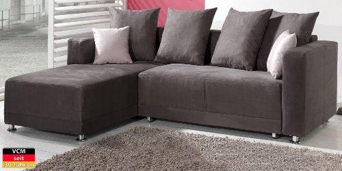 VCM Sofa Couch Ecksofa Flash, 242 x 96 x 180 x 84 cm, Schaumstoff / Mikrofaser