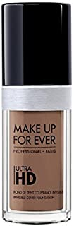 Foundation Ultra Hd Fluid Foundation Ultra Hd, 177-Y505 Cognac ,Authentic 100% From Paris France (Smooth, Oil Free , Cover Ance Dark Spot , Brightening) 30ml
