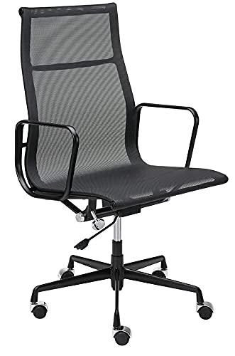 Aeron Premium - Silla de oficina (malla de aluminio), color negro