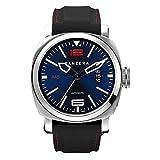 Panzera Aquamarine Atlantic Blue Porto Automático Diver Silicona Acero Azul Negro Fecha Reloj Hombre