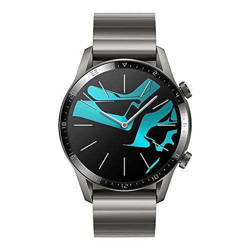 """Huawei Watch GT 2 Elegant, Smartwatch con Caja de 46 mm (hasta 2 Semanas de Batería, Pantalla Táctil AMOLED de 1.39"""", GPS, 15 Modos Deportivos, Llamadas Bluetooth), Gris (Titaniun Grey)"""
