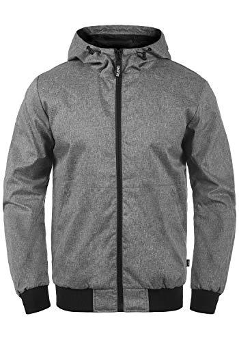 Blend Neil Herren Softshell Jacke Funktionsjacke Übergangsjacke mit Kapuze, Größe:XL, Farbe:Zink Mix (70815)