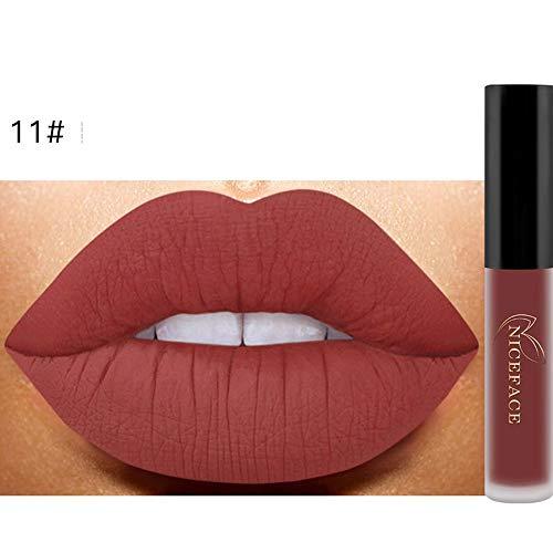 Bluestercool 26 Couleurs Rouge à Lèvres Liquide Mat Waterproof Hydratant Brillant Maquillage à Lèvres (9.8 * 1.5 * 1.5, 11#)