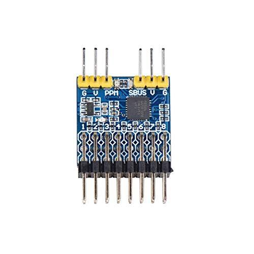 Cuasting 8CH PWM PPM SBUS Módulo de conversión de señal Convertidor Voltaje de entrada 3.3-20V para RC Avión Drone