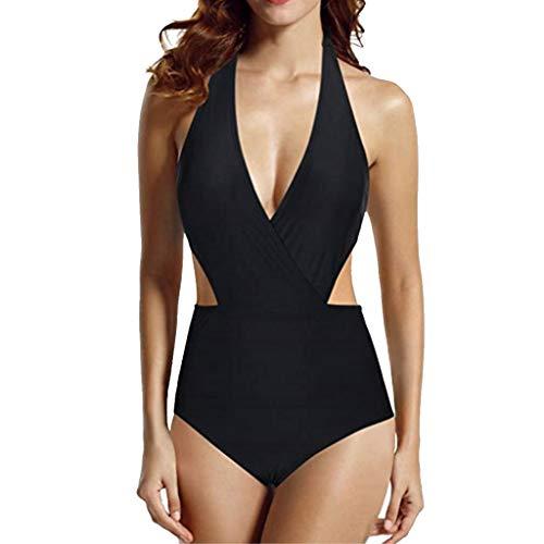 Auifor◕‿◕Mujeres Vendaje Bikini Monokini Push Up Bra Acolchado Traje de baño Traje de baño