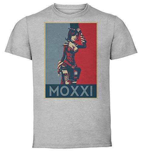 Instabuy T-Shirt Unisex - Color Gray - Propaganda - Borderlands - Moxxi B Taglia Medium