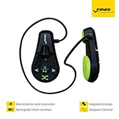 Bone conduction audio transmission amazingly clear sound in the water without the Use of ear buds Supports MP3 and wma audio formats compatible with iTunes; listen to music, audiobooks, podcasts and more 4GB of storage stores approximately up to 1000...