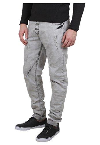 Sky Rebel Herren Straight Fit Jeans Elay grau W 32 L 34