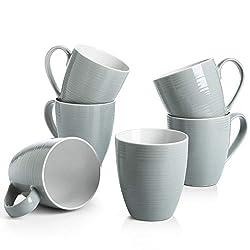 cheap DOWAN coffee cup, 17 oz 6 coffee cup set, well tea cup, gray