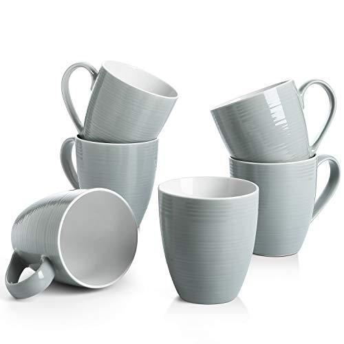 DOWAN Coffee Mugs Set - 17 Oz Large Coffee Mug Set of 6 with Handle, Ceramic Mugs for Coffee Tea and...