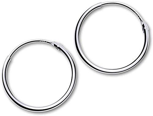 GOKEI フープピアス シルバー925純銀製 シンプル 男女兼用 金属アレルギー対応 リング フープ ピアス 軟骨ピアス レディース メンズ アクセサリー 10mm