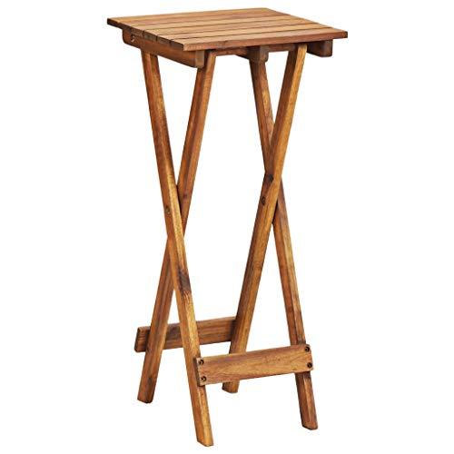 N / A vidaXL Beistelltisch Klapptisch Akazie Holz, Klappbar Balkontisch Holztisch Gartentisch, BäumenStänder, 30×30×67 cm