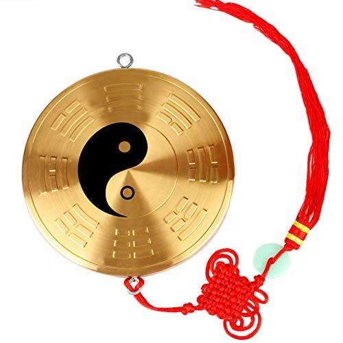 Espejo cóncavo convexo Jiugong FENG SHUI DE COBRE TAI CHI CHISME ESPEJO PENDIENTE Yin y Yang FISH CONVEXO espejo cóncavo ornamentos caseros ARTESANÍA Espejo Bagua cóncavo convexo ( Size : Small )