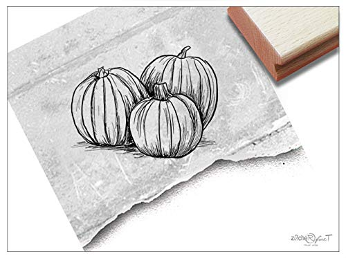Stempel Motivstempel Halloween Kürbisse - Bildstempel für Basteln Karten Tischdeko Kunst Scrapbook Herbst-Deko Geschenk für Kinder- zAcheR-fineT