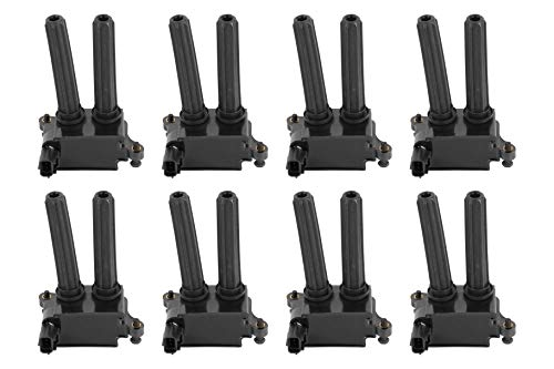 Ignition Coil Pack Set of 8 - Fits Dodge Ram 1500, 2500, 3500, Jeep Grand Cherokee 5.7L, Commander, Dodge Charger, Challenger 5.7L, 6.1L, 6.4L HEMI - Replaces 5602129AA, 56029129AA, UF-504, 56029129AF