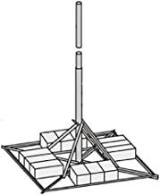 """JRM23855 Non-Penetrating Mount with 2.38"""" OD x .154"""" Wall x 10' Mast"""