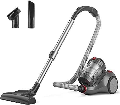 MooSoo Aspirador sin Bolsa de 19 kpa Potente aspiradora, colector de Polvo ciclónico, depósito de Polvo de 1,5 litros, Apto para Suelos Duros o alfombras MS155
