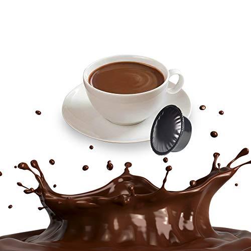 50 Capsule Cioccolata Compatibili Lavazza A Modo Mio - Bevanda Solubile in Cialde