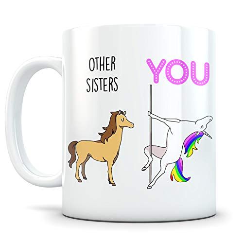 Sister Gifts from Sister - Sentimental Gifts for Sister from Brother - Awesome Sister in law Gift - Funny Sister Coffee Mug - Great twin sister gifts - 11 oz Coffee Mug White