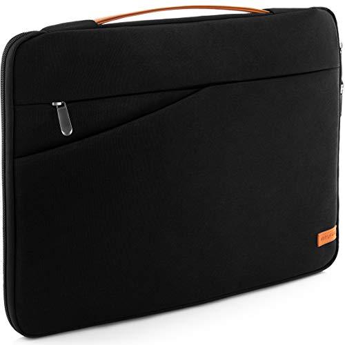 """deleyCON 14\"""" - 15,6\"""" Zoll Notebook Tasche für Netbook Laptop (35,56cm - 39,62cm) Laptoptasche aus robustem Nylon 2 Zubehörfächer verstärkte Polsterwände - Schwarz"""