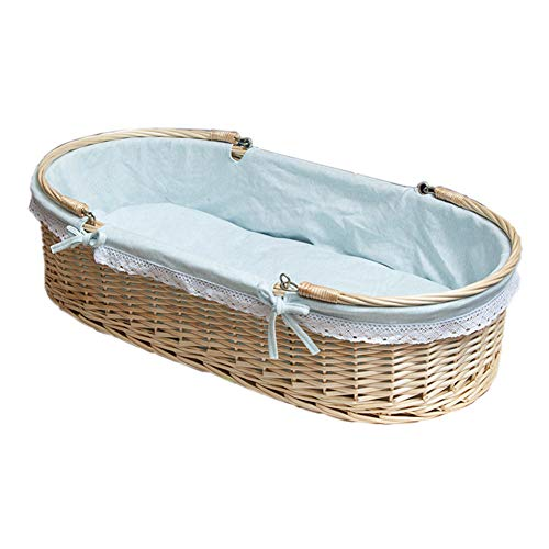Buy Discount YXGH@ Baby Moses Basket Newborn Crib Rattan Car Portable Portable Sleeping Basket Nest ...
