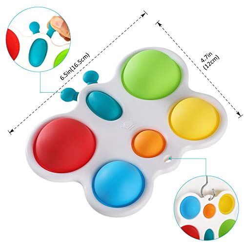 Anpole Baby Simple Dimple Fidget Toy, Kids Sensory Toys Silicone Flipping Butterfly Board, Early Educational Toddler Baby Toy, ADHD Fidget Toys Stress Relief Hand Toys Gifts