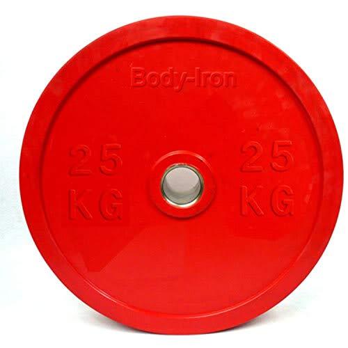 TECNOFIT Disco de pesas engomado Bumper 25 kg olímpico