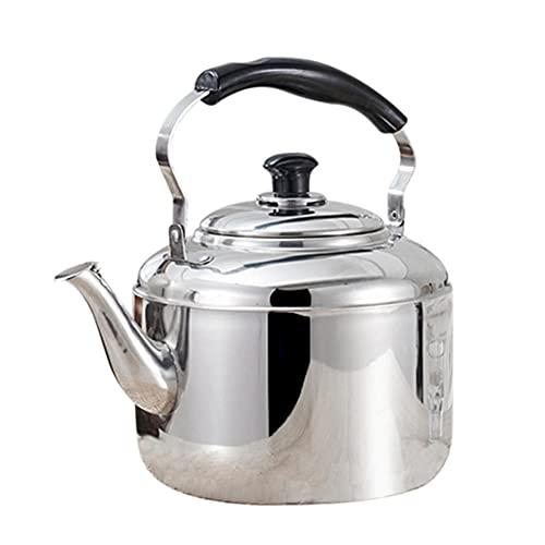 BAWAQAF tetera, 4L de acero inoxidable hervidor de agua silbado tetera, café cocina estufa de inducción para, para el hogar de la cocina camping picnic
