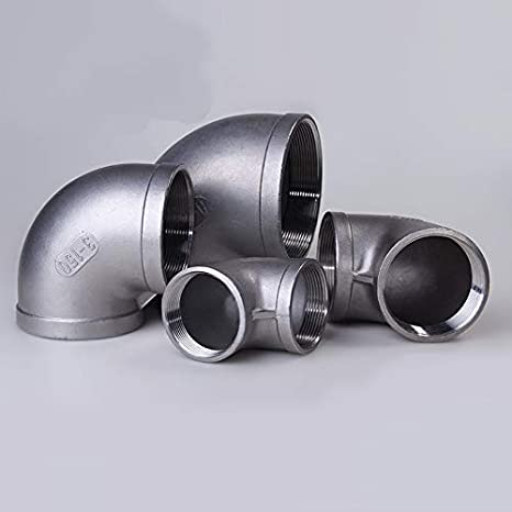Thread Specification: DN6 KTS New 1//8 1//4 3//8 1//2 3//4 1 1-1//4 1-1//2 BSP Elbow 90 Degree Angled Stainless Steel 304 Female Threaded Pipe Fitting