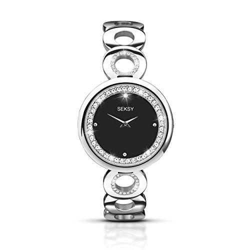 Seksy 2077–Uhr, Edelstahl-Armband Silber