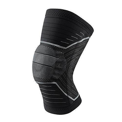 IENPAJNEPQN 1PCS de Rodilla Soporte elástico de Nylon Aptitud del Deporte Pads aparatos ortopédicos de compresión de la rótula Engranaje Rodillera de Básquet (Color : 4, Size : L)