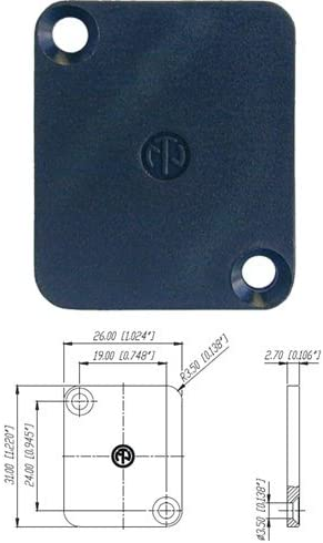 Neutrik DBA BL PACK OF 4 Blank Plate for D Cutouts XLR Connectors D SERIES product image