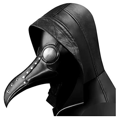 Quner Halloween Maske, Pestdoktor Schnabelmaske Pest-Maske Cosplay ,Retro Felsen Party Masken Steampunk Kostüm Dekoration