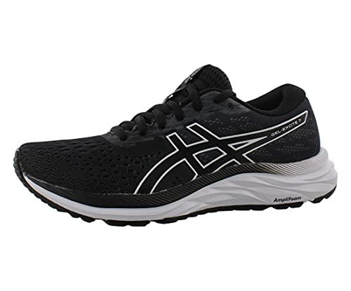 ASICS Women's Gel-Excite 7 Running Shoe, 9.5, Black/White