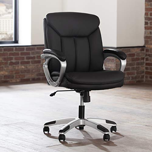 OFM Essentials Collection Executive Office Chair, in Black (ESS-6020)