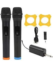 Handhållen mikrofon, bärbar metall + plast lätt ljudvideoutrustning Trådlös mikrofon, Karaoke mikrofonfest för hemmabioprestanda KTV