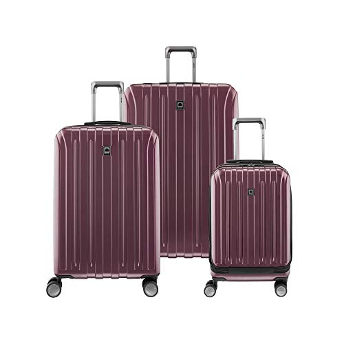 DELSEY Paris Titanium Hardside Expandable Luggage with Spinner Wheels, Purple, 3-Piece Set (19/25/29)