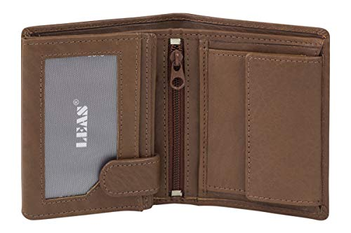 LEAS Kleine Mini Geldbörse mit RFID...