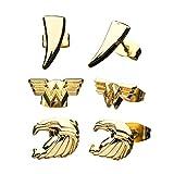 Body Vibe / Sales One International Wonder Woman 1984 - Juego de pendientes de oro