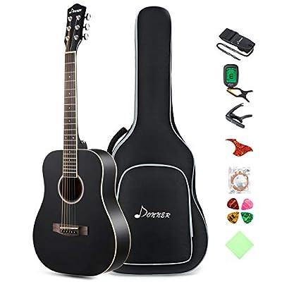 Donner 36'' Dreadnought Acoustic Guitar Package 3/4 Size Beginner Guitar Kit