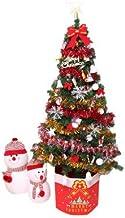 QXM 150 cm Kunstkerstboom bundel met kerstversiering LED multicolor lichten decoraties boom voor privégebruikers