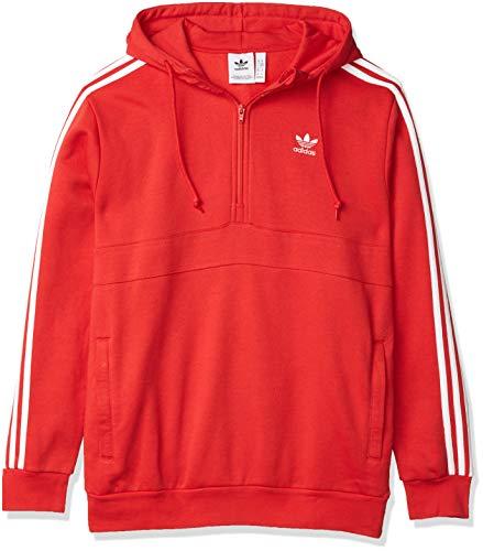 adidas Originals - Sudadera con capucha y cremallera completa para hombre -  Rojo -  XX-Large