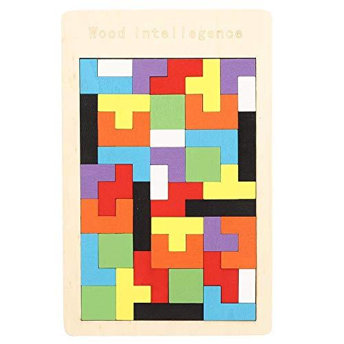 puzzels voor kinderen, houtblok puzzelspellen van 4-10 jaar Kleurrijk tetris-spel Montessori Intelligence Educational Gift