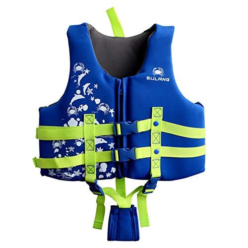 フローティングベスト 子供用 ライフジャケット 子供 ライフベスト 子供用水着 浮力ベスト 調整可能な安全バックル 救命胴衣 強い浮力水着 水泳ベスト 男女兼用 (L)