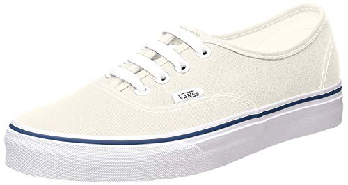 Vans Unisex's Vans Authentic Skate Shoes 8.5 (White/Off White)