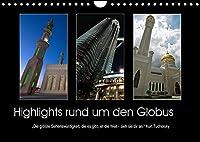 """Highlights rund um den Globus (Wandkalender 2022 DIN A4 quer): """"Die groesste Sehenswuerdigkeit, die es gibt, ist die Welt - sieh sie dir an."""" Kurt Tucholsky (Monatskalender, 14 Seiten )"""