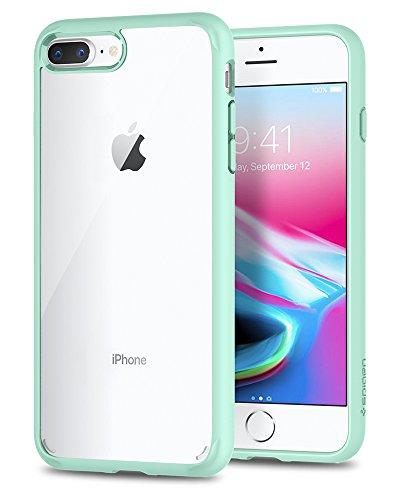 Spigen 043CS21138 Ultra Hybrid 2 Kompatibel mit iPhone 8 Plus/ 7 Plus Hülle, Einteilig Durchsichtig Schutzhülle Hülle Mint