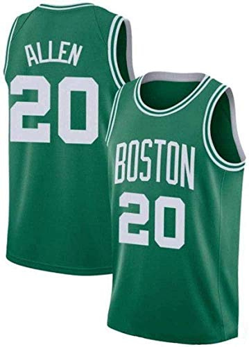 WSWZ Herren Trikots - Boston Celtics 20# Ray Allen Basketball Trikot - Unisex Bequeme Basketball Sportweste Top T-Shirt,XL(180~185CM/85~95KG)